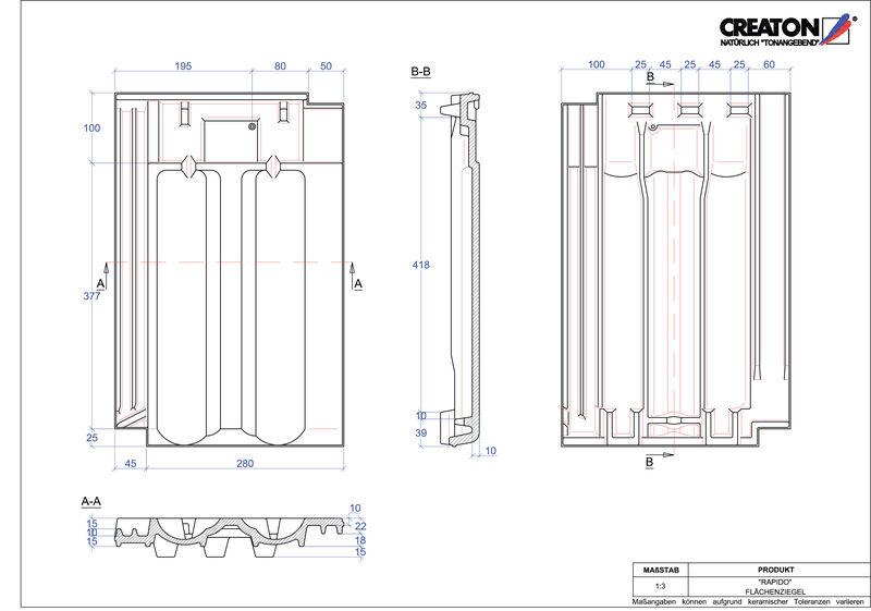 CAD soubor tašky RAPIDO střešní taška FLA