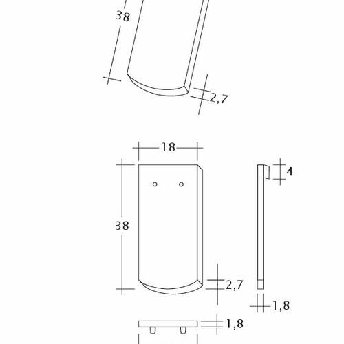 Technický výkres tašky SAKRAL Seg-1-1