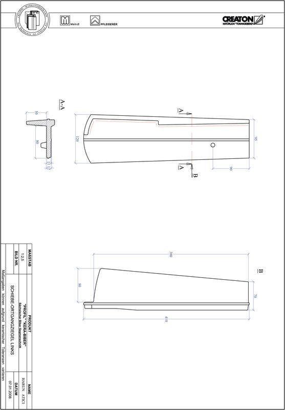 CAD soubor tašky PROFIL segmentový řez KERA-SAECHS-18-CM-OGL