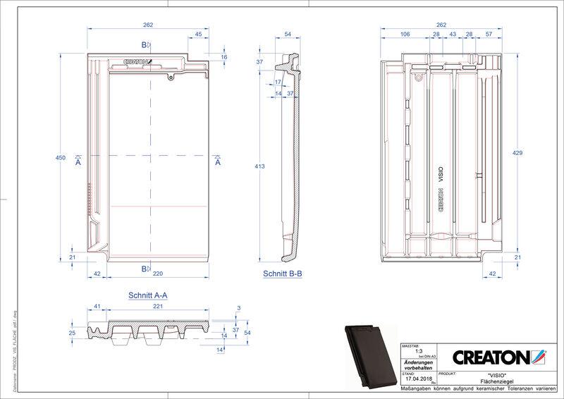 CAD soubor tašky VISIO střešní taška FLA