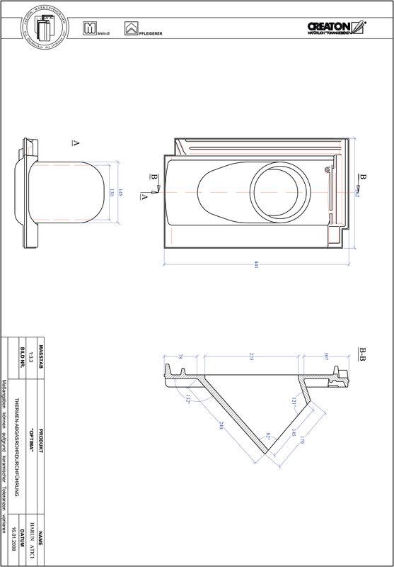 CAD soubor tašky TERRA OPTIMA prostupová taška pro odvod spalin THERME