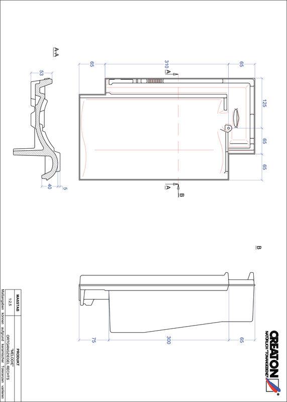 CAD soubor tašky MELODIE krajní taška pravá OGR